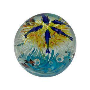 Murano Globe Art Glass Aquarium Paperweight
